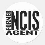Former NCIS Agent Round Sticker