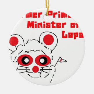 Former Prime Minister of Japan Round Ceramic Decoration