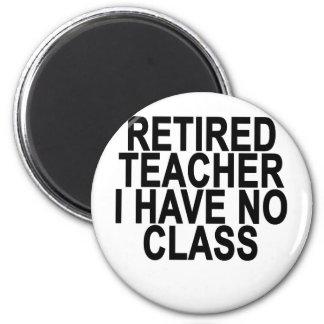 Former Retired Teacher Light T-Shirt 6 Cm Round Magnet