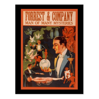 Forrest & Company man of many mysteries Postcard