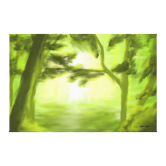 Forrest Light Stretched Canvas Prints