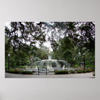Forsyth Park Fountain - poster
