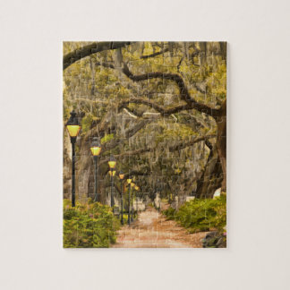 Forsyth Park - Photo, Savannah, Georgia (GA) USA Jigsaw Puzzle