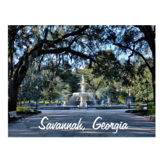 Forsyth Park Savannah Georgia Postcard