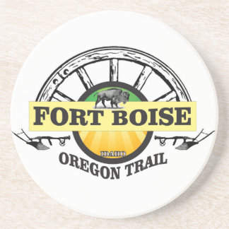 fort boise yellow marker coaster