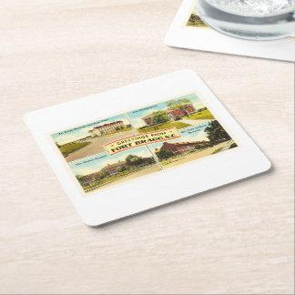 Fort Bragg # 2 North Carolina NC Vintage Souvenir- Square Paper Coaster