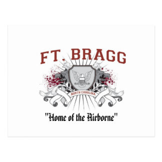 "Fort Bragg ""Home of the Airborne"" Postcard"