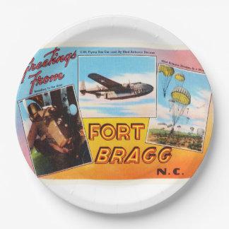 Fort Bragg North Carolina NC Old Vintage Postcard- Paper Plate