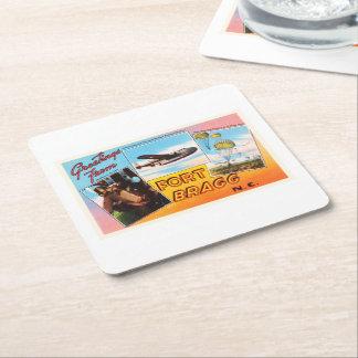 Fort Bragg North Carolina NC Old Vintage Postcard- Square Paper Coaster