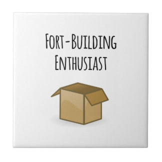 Fort-Building Enthusiast Ceramic Tile