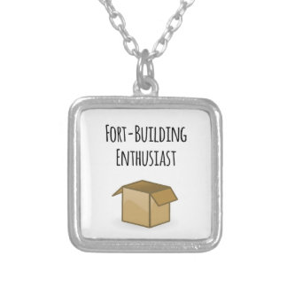 Fort-Building Enthusiast Silver Plated Necklace