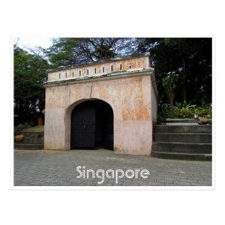 fort canning gate postcard