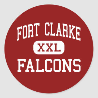 Fort Clarke - Falcons - Middle - Gainesville Round Sticker
