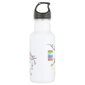 Fort Collins Bike Map 18 Ounce Water Bottle 532 Ml Water Bottle