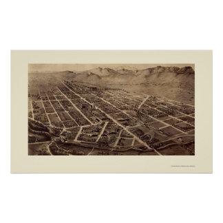Fort Collins, CO Panoramic Map - 1899 Poster