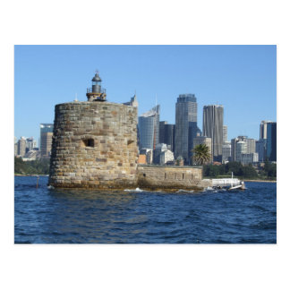 Fort Denison & Sydney Skyline Postcard