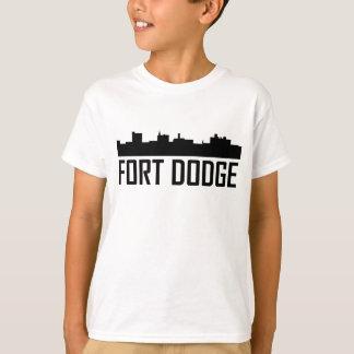 Fort Dodge Iowa City Skyline T-Shirt