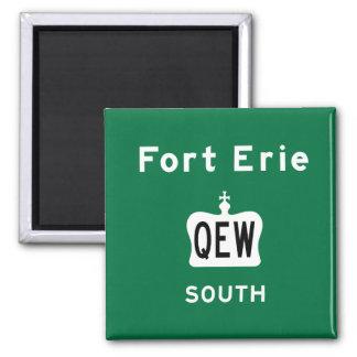 Fort Erie QEW Square Magnet