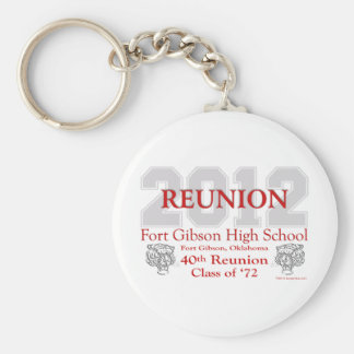 Fort Gibson 40th Reunion Basic Round Button Key Ring