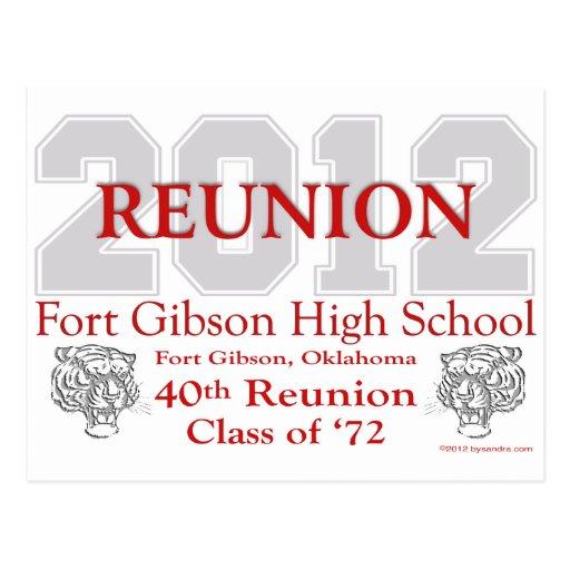 Fort Gibson 40th Reunion Postcard