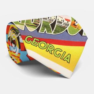 Fort Gordon Georgia GA Old Vintage Travel Postcard Tie