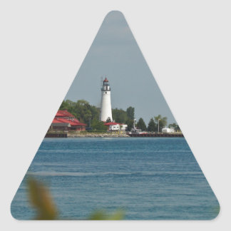 Fort Gratiot Lighthouse Triangle Sticker