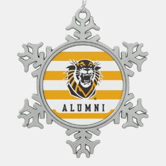Fort Hays State   Alumni Snowflake Pewter Christmas Ornament