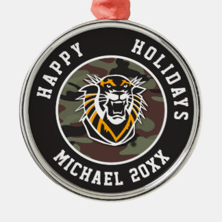 Fort Hays State | Camo Metal Ornament
