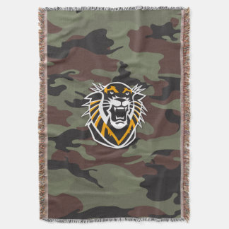 Fort Hays State | Camo Throw Blanket