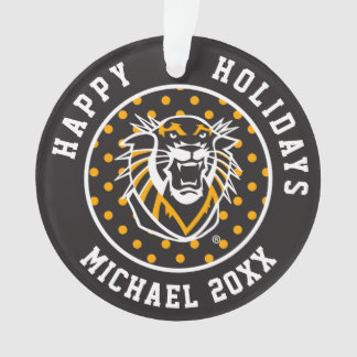 Fort Hays State | Polka Dot Pattern Ornament