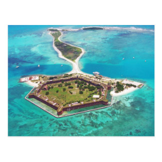 Fort Jefferson on Garden Key, Dry Tortugas NP Postcard