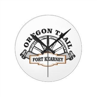 fort kearney fun art round clock