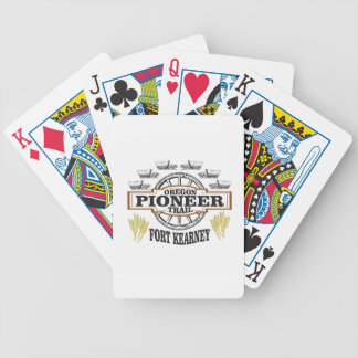 fort kearney logo art bicycle playing cards