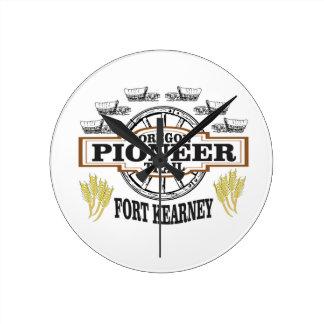 fort kearney logo art round clock