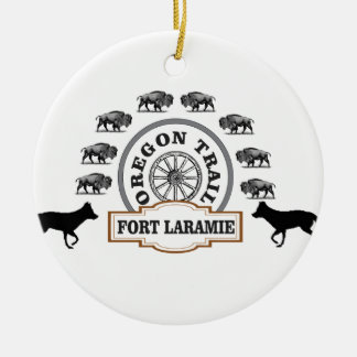 fort Laramie gold Ceramic Ornament