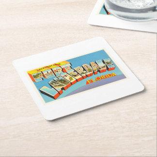 Fort Lauderdale #2 Florida FL Old Travel Souvenir Square Paper Coaster