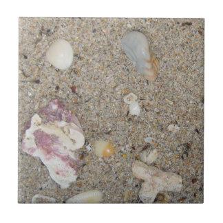 Fort Lauderdale Beach Sand, Shells, Coral Ceramic Tile