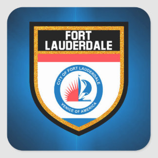 Fort Lauderdale Flag Square Sticker