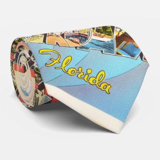 Fort Lauderdale Florida FL Vintage Travel Souvenir Tie