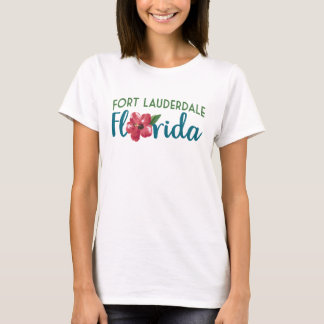 Fort Lauderdale Florida T-shirt - Hibiscus Flower