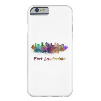 Fort Lauderdale skyline in watercolor Barely There iPhone 6 Case