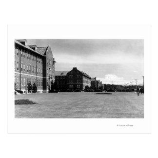 Fort Lewis, WA View of Barracks and Mt. Rainier Postcard