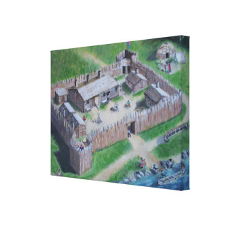 Fort life on the St-Laurence River. Canvas Print