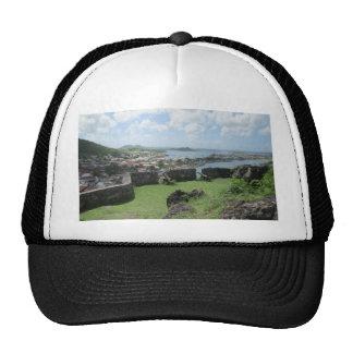 """Fort Louis Rampart Walls """"St. Maarten"""" Trucker Hats"""