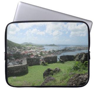 """Fort Louis Rampart Walls """"St. Maarten"""" Laptop Computer Sleeves"""