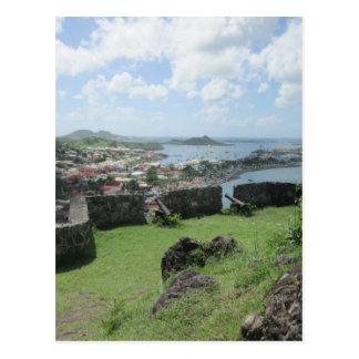 "Fort Louis Rampart Walls ""St. Maarten"" Postcard"