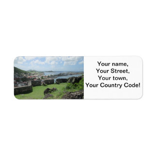 "Fort Louis Rampart Walls ""St. Maarten"" Return Address Label"
