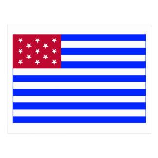 Fort Mercer Flag Postcard