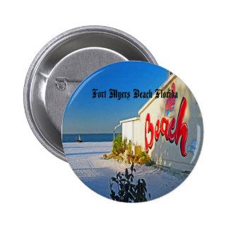 Fort Myers Beach 6 Cm Round Badge