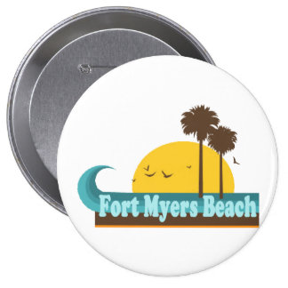 Fort Myers Beach. 10 Cm Round Badge